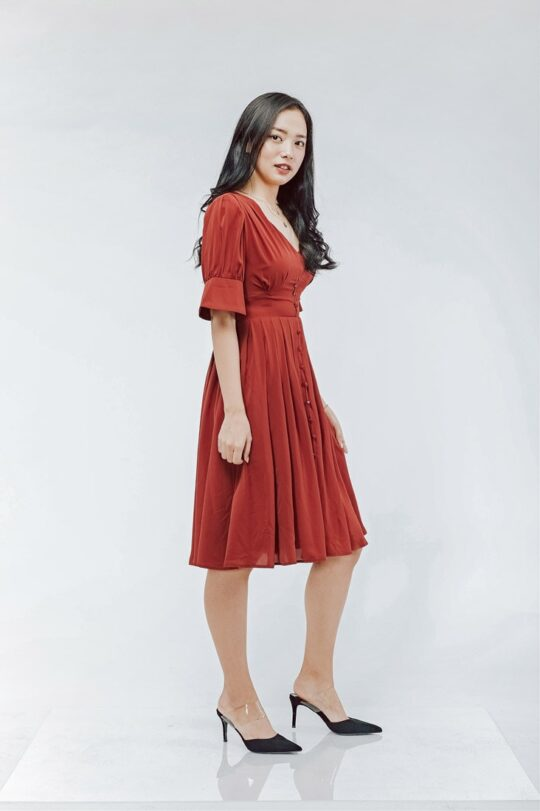 Sly Dress Brick Red 5