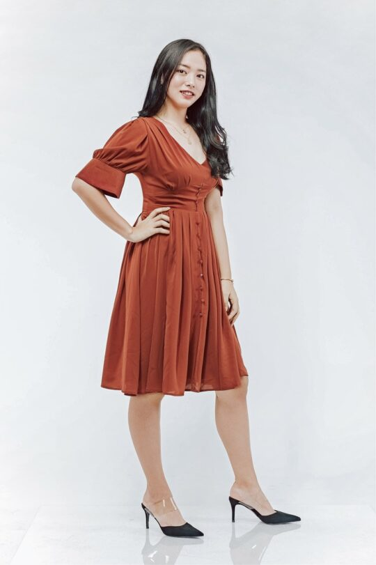 Sly Dress Brick Red 6