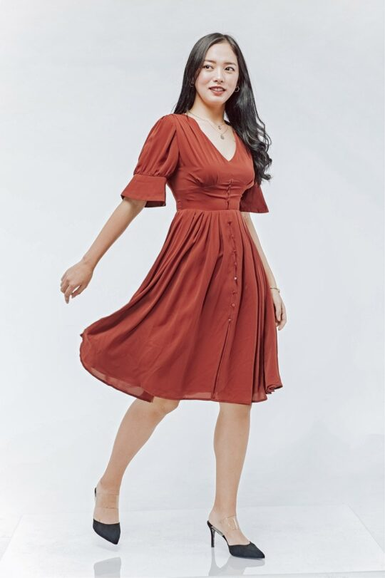 Sly Dress Brick Red 4