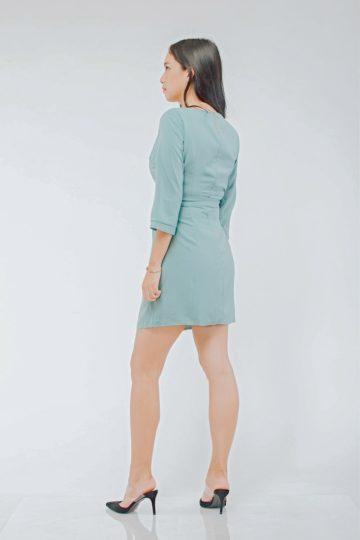 Mango Wrap Dress Green 7