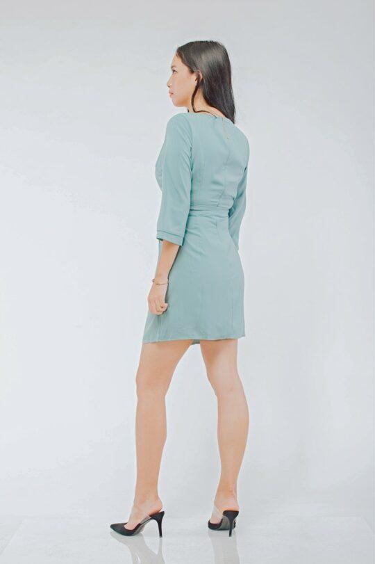 Mango Wrap Dress Green 4