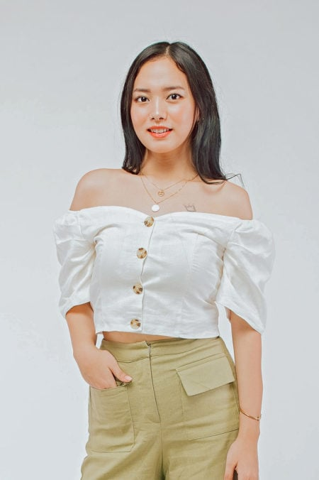Off Shoulder Top White 9