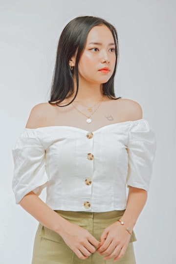 Off Shoulder Top White 8