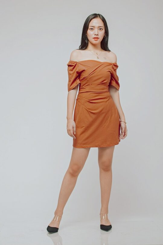 CC Bodycon Rust Orange 3