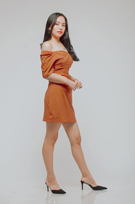 CC Bodycon Rust Orange 5