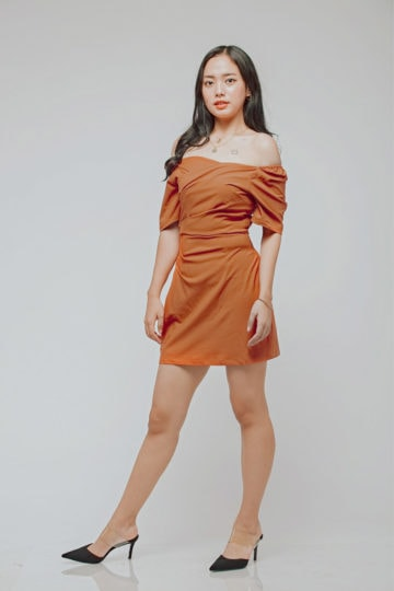CC Bodycon Rust Orange 9