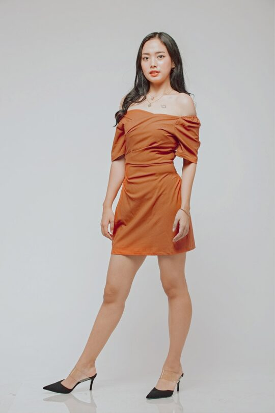 CC Bodycon Rust Orange 6