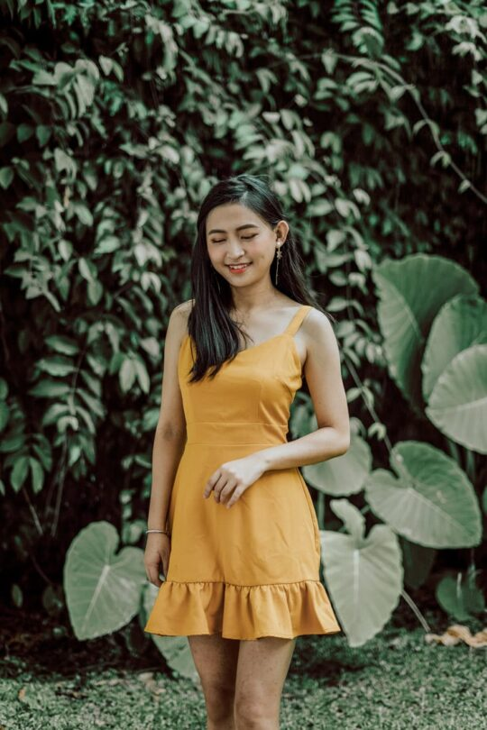 Hong Hong Dress Mustard 3
