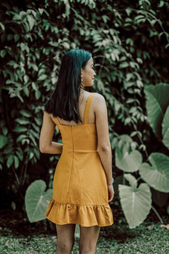 Hong Hong Dress Mustard 5