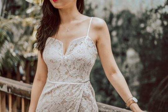 Kayla Lace White 8