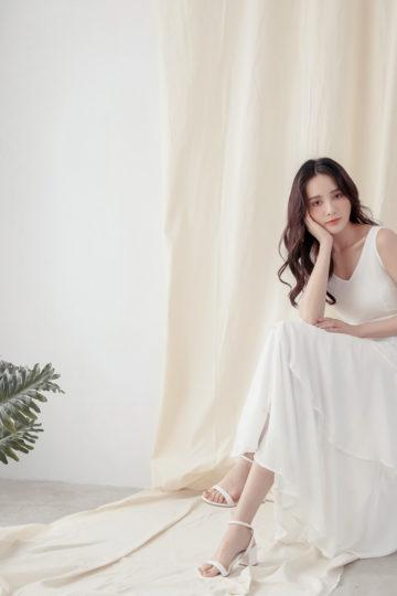Vivian Dress Plain White 14