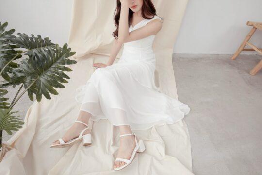 Vivian Dress Plain White 8
