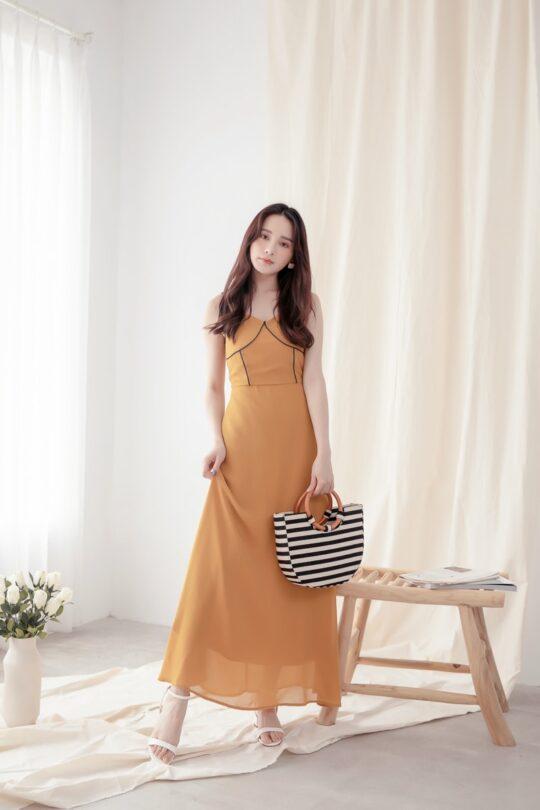 Moonhye Dress Mustard 3