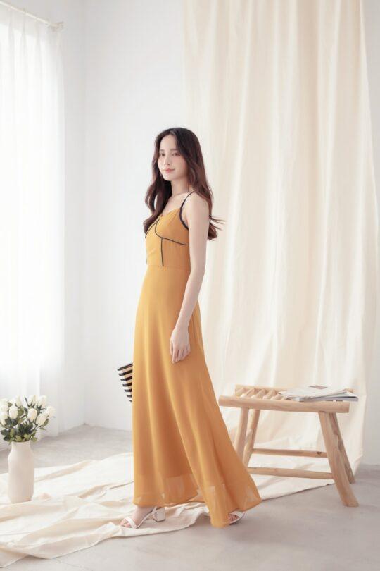 Moonhye Dress Mustard 8