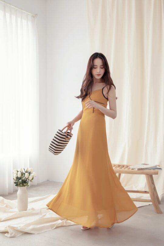 Moonhye Dress Mustard 9