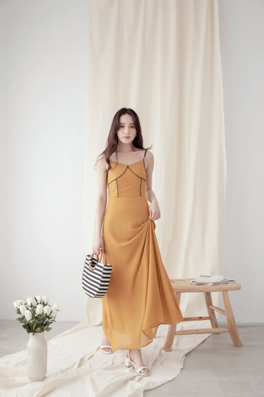 Moonhye Dress Mustard 4