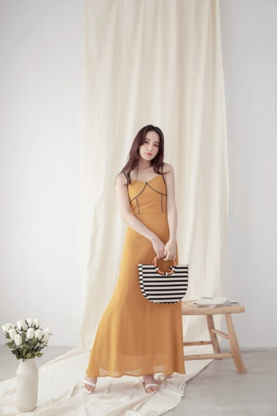 Moonhye Dress Mustard 5