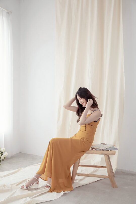 Moonhye Dress Mustard 6