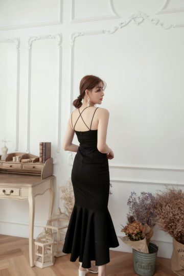 Eve Mermaid Dress Black(Backorder) 16