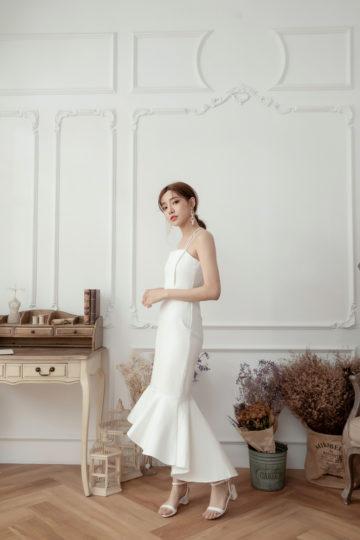 Eve Mermaid Dress White(Backorder) 16