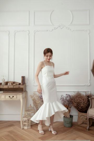 Eve Mermaid Dress White(Backorder) 12