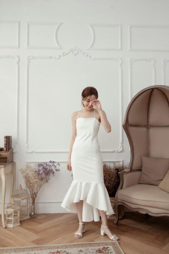 Eve Mermaid Dress White(Backorder) 8