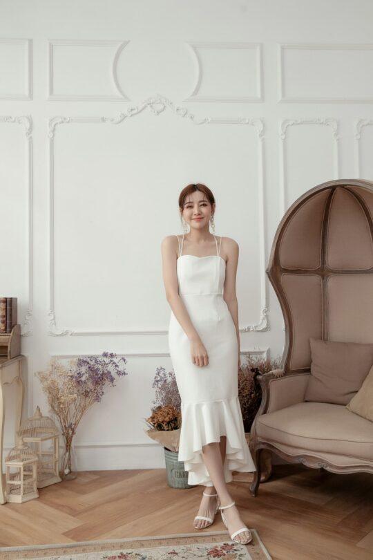 Eve Mermaid Dress White(Backorder) 6