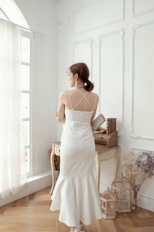 Eve Mermaid Dress White(Backorder) 10