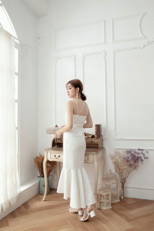 Eve Mermaid Dress White(Backorder) 4