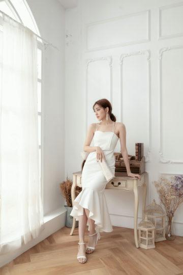 Eve Mermaid Dress White(Backorder) 14