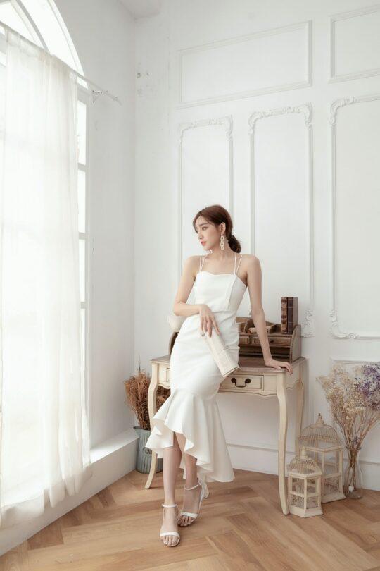 Eve Mermaid Dress White(Backorder) 7
