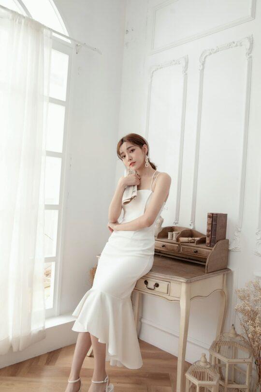 Eve Mermaid Dress White(Backorder) 3