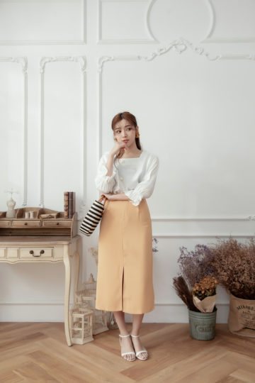 Mongie Skirt Pastel Orange 13