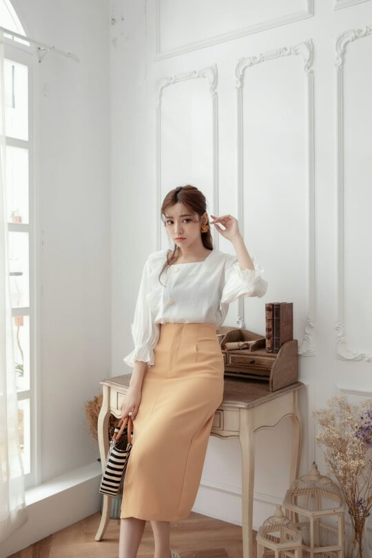 Mongie Skirt Pastel Orange 3