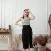 Slit Midi Skirt Black 2