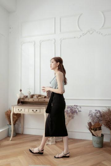 Slit Midi Skirt Black 13