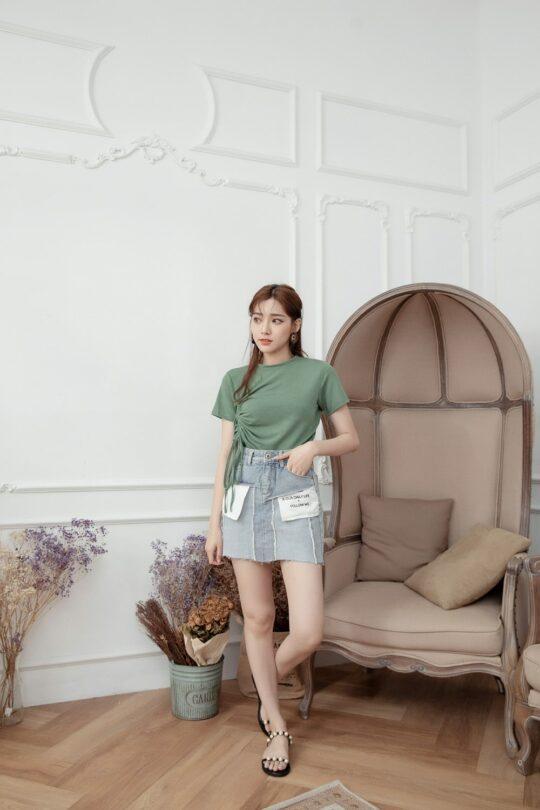 Denim Plaster Skirt 4