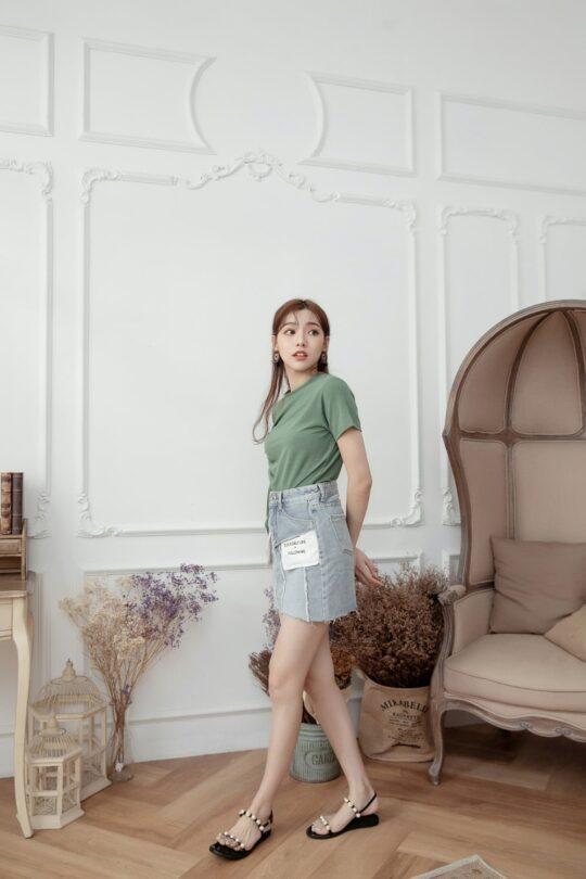 Denim Plaster Skirt 6