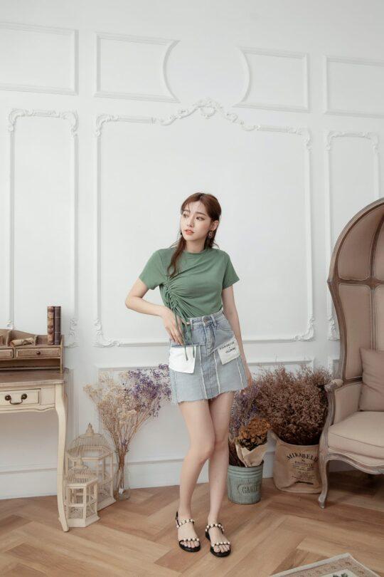 Denim Plaster Skirt 9