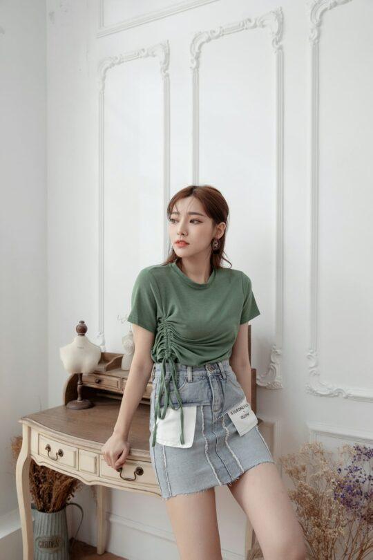 Denim Plaster Skirt 3