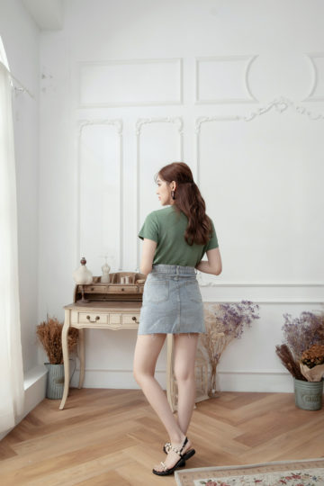 Denim Plaster Skirt 12