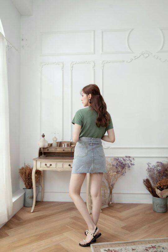 Denim Plaster Skirt 5