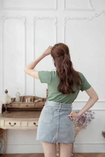 Denim Plaster Skirt 17
