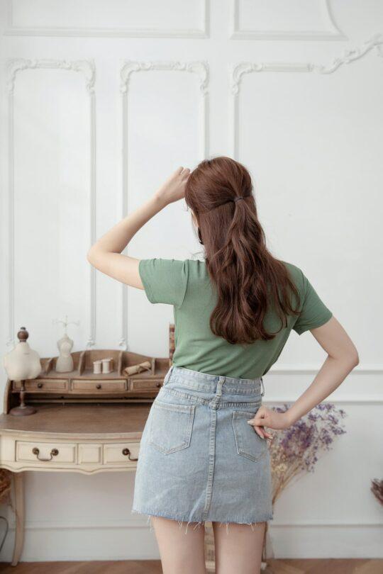 Denim Plaster Skirt 10