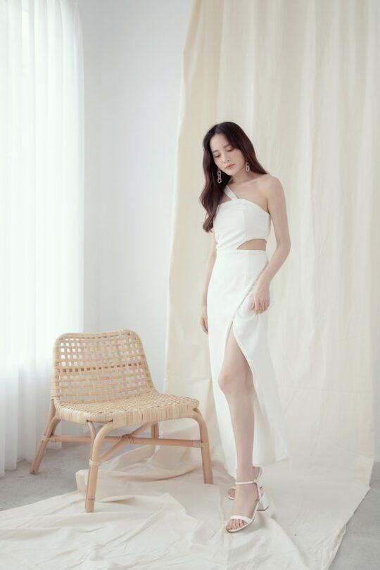 Khloe Cut Out Dress White 4