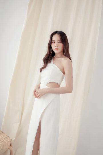 Khloe Cut Out Dress White 11