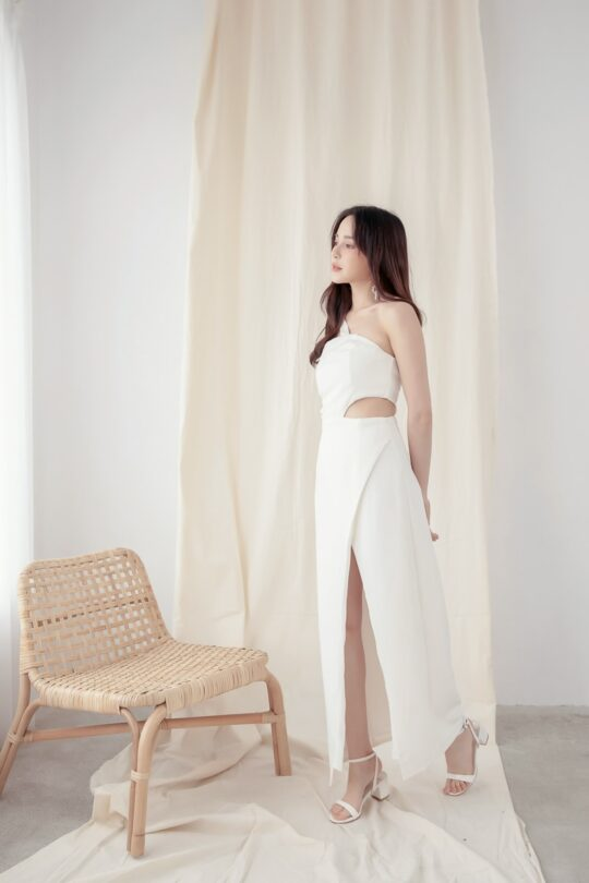 Khloe Cut Out Dress White 3
