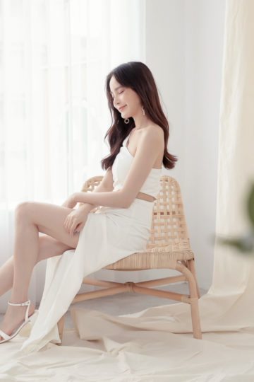 Khloe Cut Out Dress White 13