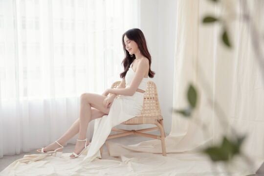 Khloe Cut Out Dress White 7