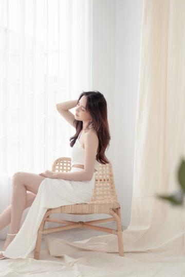 Khloe Cut Out Dress White 14